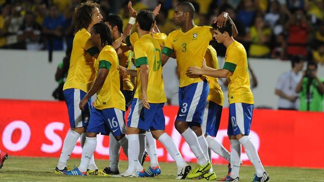 Brazil thrash China, build bridges with fans