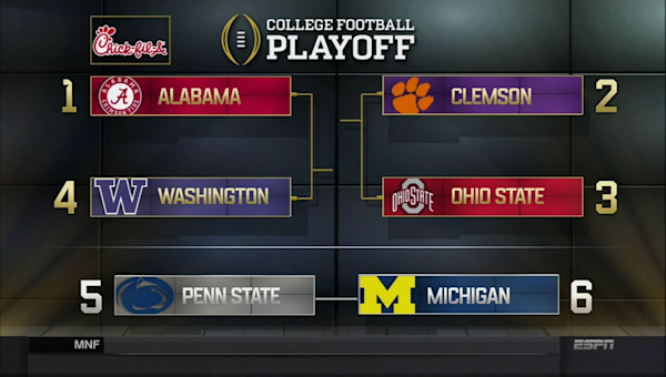 college football live updates football playoff picture