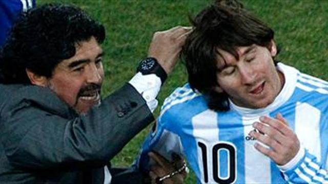 Liga - Messi level with Maradona