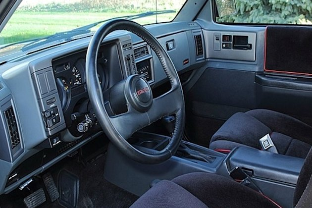 1991GMC Syclone Interior fastest pickup photo