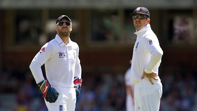 Graeme Swann, right, and Matt Prior, left, have been criticised by Bob Willis