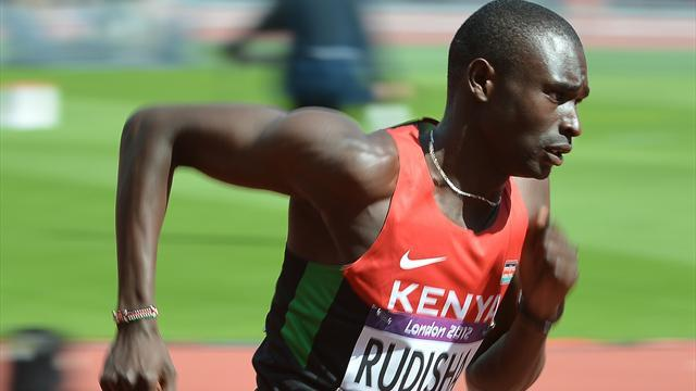 Athletics - Rudisha keeps his cool to see off Aman in Doha