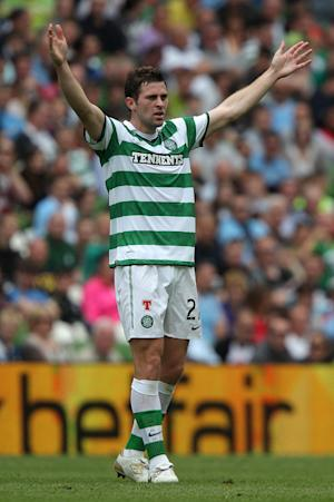 Daryl Murphy hit the post for Celtic