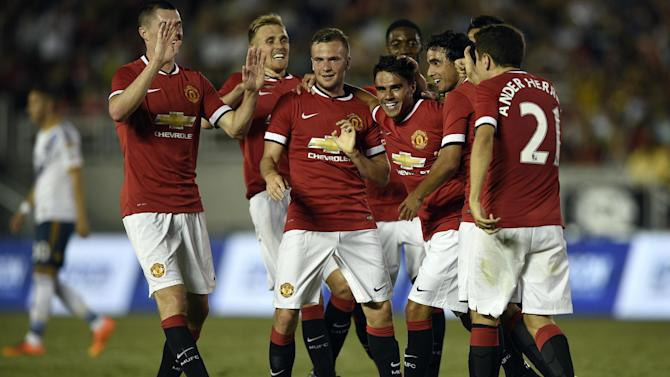 Premier League - United net seven to see off LA Galaxy in Van Gaal debut