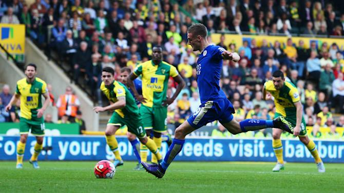 Norwich City 1-2 Leicester City: Vardy and Schlupp get Ranieri's side back on track