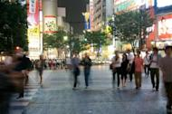 The shopping district of Shibuya,Tokyo