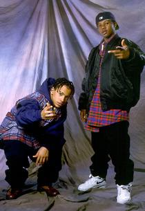 Chris Smith and Chris Kelly of Kriss Kross | Photo Credits: Paul Natkin/WireImage/Getty Images.