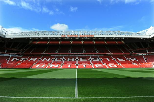 Manchester's Old Trafford Stadium before a match between Manchester United and Arsenal