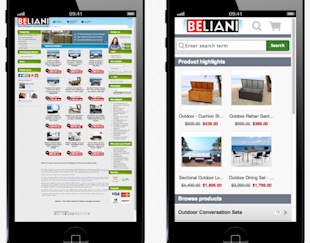 7 Ideas To Boost Online Holiday Sales In 2013 With Social Media image beliani shopgate mobile website 600x471