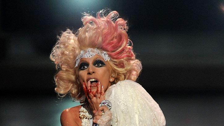 Singer Lady Gaga performs onstage during the 2009 MTV Video Music Awards at Radio City Music Hall on September 13, 2009 in New York City.