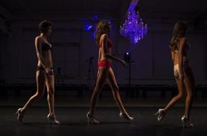 Models present creations from the GS Shop Lingerie…