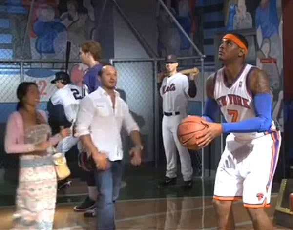 Carmelo Anthony Scares Fans In Wax Museum — Funny Video