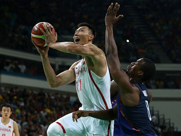 Yi hit for 25 points and six rebounds against Team USA. (Getty Images)