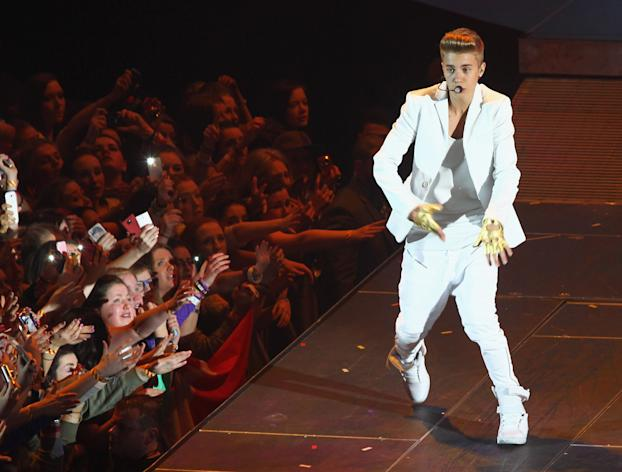 Justin Bieber performs at the O2 on February 17, 2013 in Dublin, Ireland.