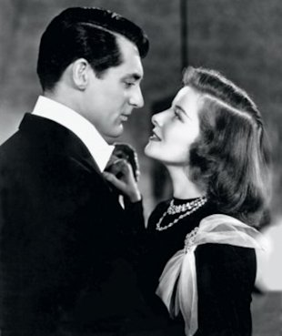 JUST ONE LOOK: Cary Grant and Katharine Hepburn in Holiday.