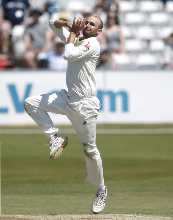 CRIC: Australia's Nathan Lyon in action