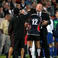 John Kirwin, right, has been appointed Blues coach