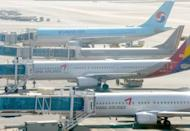 This file photo shows planes of local carriers sitting on the tarmac at Gimpo airport in Seoul, in 2009. Korea Finance Corporation said on Monday it would complete this year the sale of a controlling stake in aircraft maker Korea Aerospace Industries (KAI), in a deal worth nearly $1.0 billion