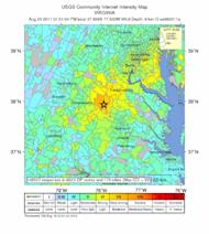 Did you feel it? A map shows the wide reach of the 2011 Virginia earthquake.