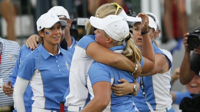 Golf - Europe complete Solheim Cup win in record style