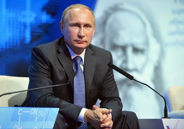 Russian President Vladimir Putin, pictured during a visit to Penza, on October 15, 2014