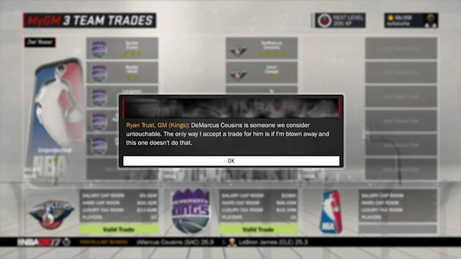 The DeMarcus Cousins trade to the Pelicans was so lopsided, even NBA 2K rejected it
