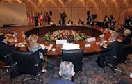 European Union foreign policy chief Catherine Ashton and Iran's chief negotiator Saeed Jalili attend a meeting in Istanbul. Iran and world powers agreed in talks Saturday to a more in-depth meeting in Baghdad on May 23 where, Western nations warned Tehran, hard work needed to be done to ease fears it wants the bomb