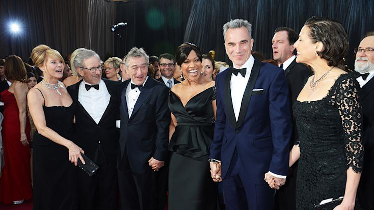 85th Annual Academy Awards - Arrivals: Kate Capshaw, Steven Spielberg, Robert De Niro, Grace Hightower; Daniel Day-Lewis, and Rebecca Miller
