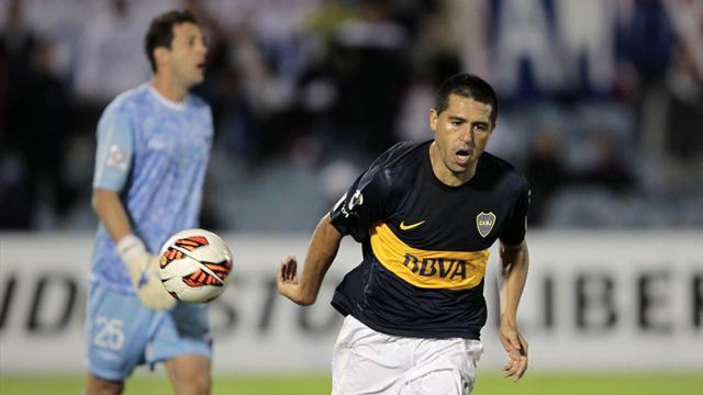 South American Football - Riquelme penalty gives Boca another Libertadores win