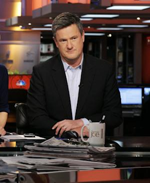"This 2009 photo released by MSNBC shows Joe Scarborough on the set of his ""Morning Joe,"" show in New York. Scarborough's morning talk show airs from 6 a.m.- 9 a.m. weekdays on MSNBC. (AP Photo/MSNBC,  Virginia Sherwood)"