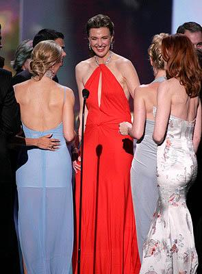 """Felicity Huffman, Brenda Strong, Nicollette Sheridan and Marcia Cross of """"Desperate Housewives"""" Outstanding Ensemble in a Comedy Series Screen Actors Guild Awards - 2/5/2005"""