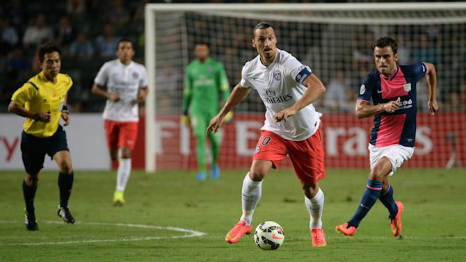 Football - Friendlies: Zlatan scores hat-trick, Gomis breaks Swansea duck
