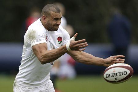 England's Jonathan Joseph during training