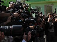 Afghan and foreign journalists at a 2010 press conference in Kabul. Hard-won media freedoms in Afghanistan are under serious threat from a draft law that is seen as a concession to Muslim conservatives ahead of NATO's exit in 2014, a leading rights group has warned