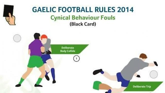 The black card offences explained in a simple graphic