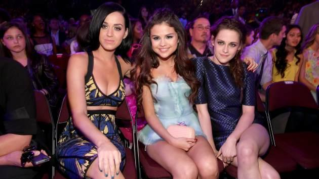 Katy Perry - Selena Gomez - Kristen Stewart KCA 2013 -- Getty Images