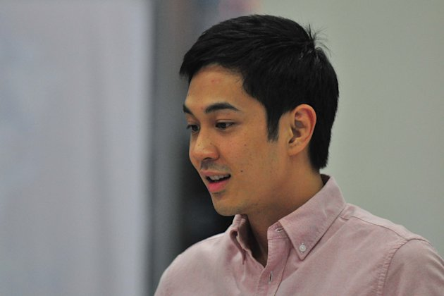 PBB Big Winner Slater Young attends David Guetta Live in Manila concert, held at the Mall of Asia Arena in Pasay on 10 October 2012.