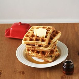 These waffles have the best secret ingredient!!