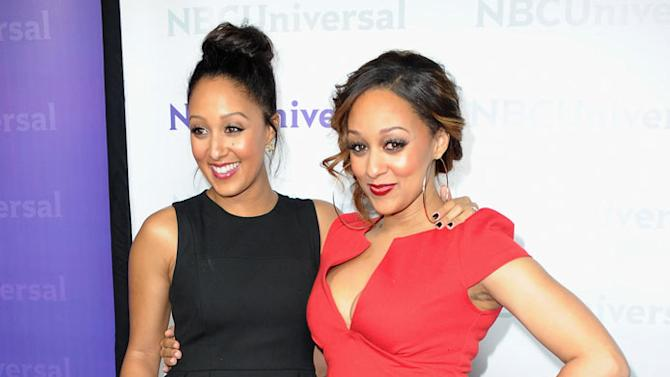 """Tamera Mowry and Tia Mowry (""""Tia & Tamera"""") attend the 2012 NBC Universal Winter TCA All-Star Party at The Athenaeum on January 6, 2012 in Pasadena, California."""