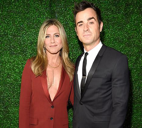 Jennifer Aniston Wows in a Sexy Red Tuxedo with a Dangerously Low Neckline at Critics' Choice Awards 2015