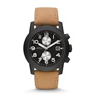 "The ""Larry"" watch from Marc by Marc Jacobs has a brushed leather strap for a relaxed and casual look"
