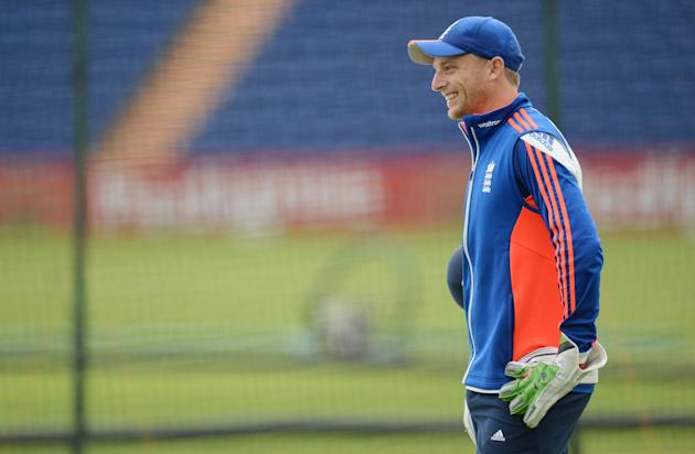 CRIC: England's Jos Buttler during a training session