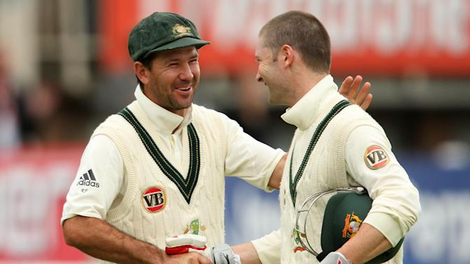 Michael Clarke, right, still has faith in former skipper Ricky Ponting, left