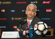 The head of the United States Soccer Federation Sunil Gulati, pictured on June 24, 2016, denied any knowledge of a possible deal to lure US coach Jurgen Klinsmann to English Premier League side Southampton