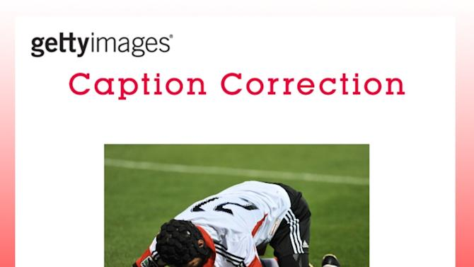 CAPTION CORRECTION: DC United v Sporting Kansas City