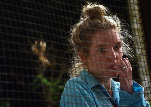 Helen didn't cope very well with the jungle challenges. [REX]