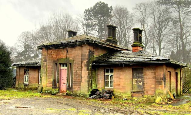 Wingfield Station, Derbyshire: The small, Grade II-listed railway building has fallen into disrepair under private ownership after closing in the 1960s (Steven Lee/The Victorian Society)