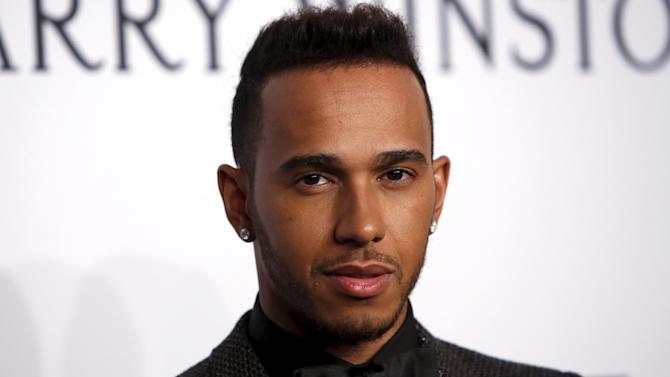 Formula One driver Lewis Hamilton attends the 2016 amfAR New York Gala at Cipriani Wall Street in Manhattan