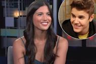 Justin Bieber's 'Boyfriend' video vixen Rachel Barnes / inset: Justin Bieber -- Access Hollywood