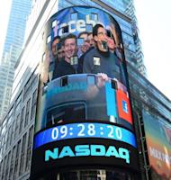 Facebook co-founder Mark Zuckerberg is seen on a screen getting ready to ring the NASDAQ stock exchange opening bell in Times Square in New York on May 18. The initial public offering last week which raised a record $16 billion has sparked fury, and lawsuits, amid concerns that key information about the outlook for the social network giant might not have been made widely available